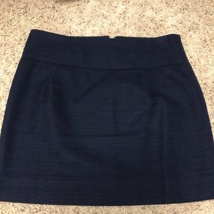 J.Crew Factory navy basketweave skirt size 0